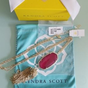 Kendra Scott Burgundy Illusion Rayne Gold Necklace
